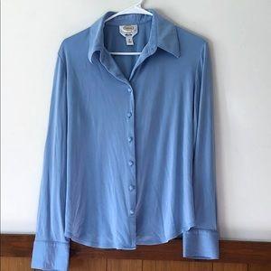 Talbots Silk Button Down Shirt